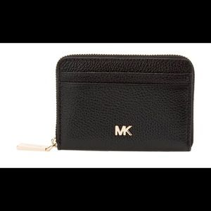 Michael Kors ZIP Around Coin Card Case Black/Gold